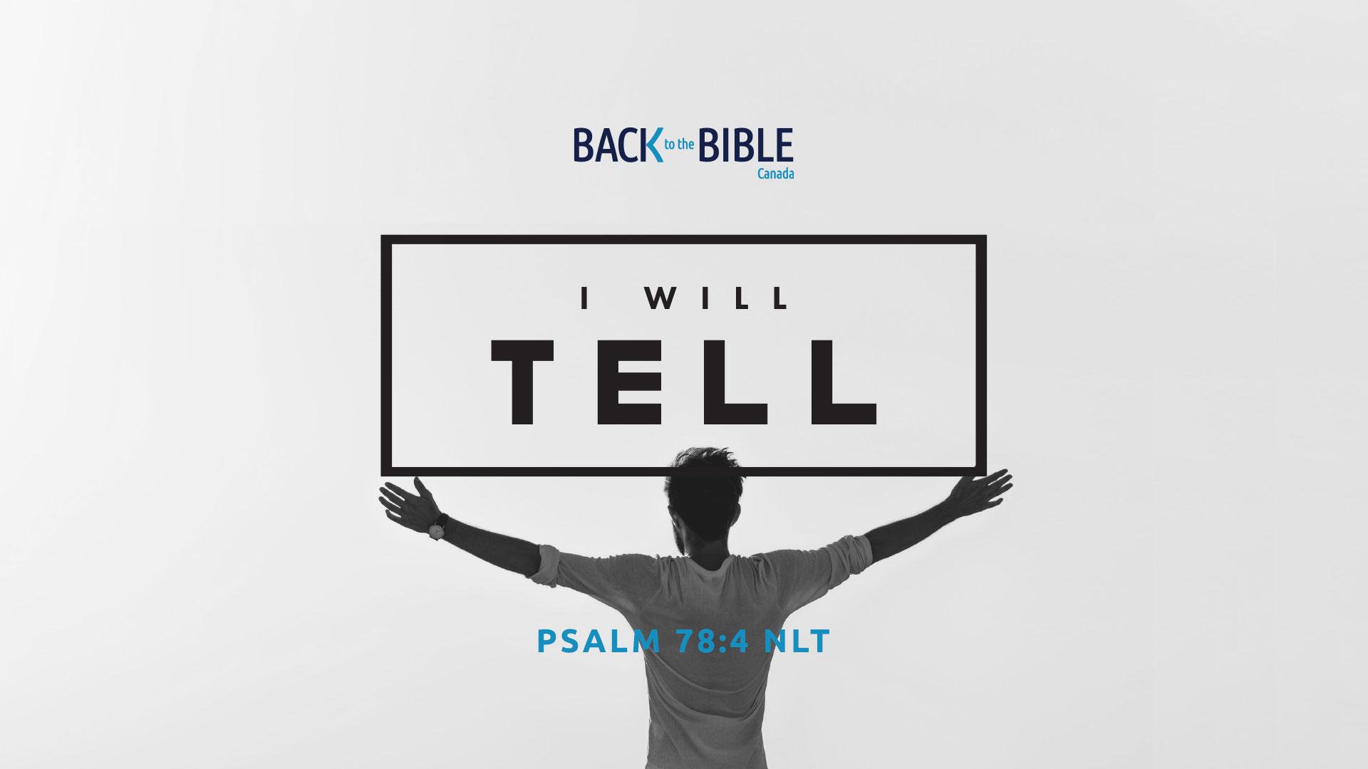 I Will Tell