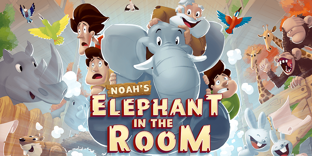 Free kids Bible adventure app | Noah's Elephant in the Room popular app for kids by Back to the Bible Kids