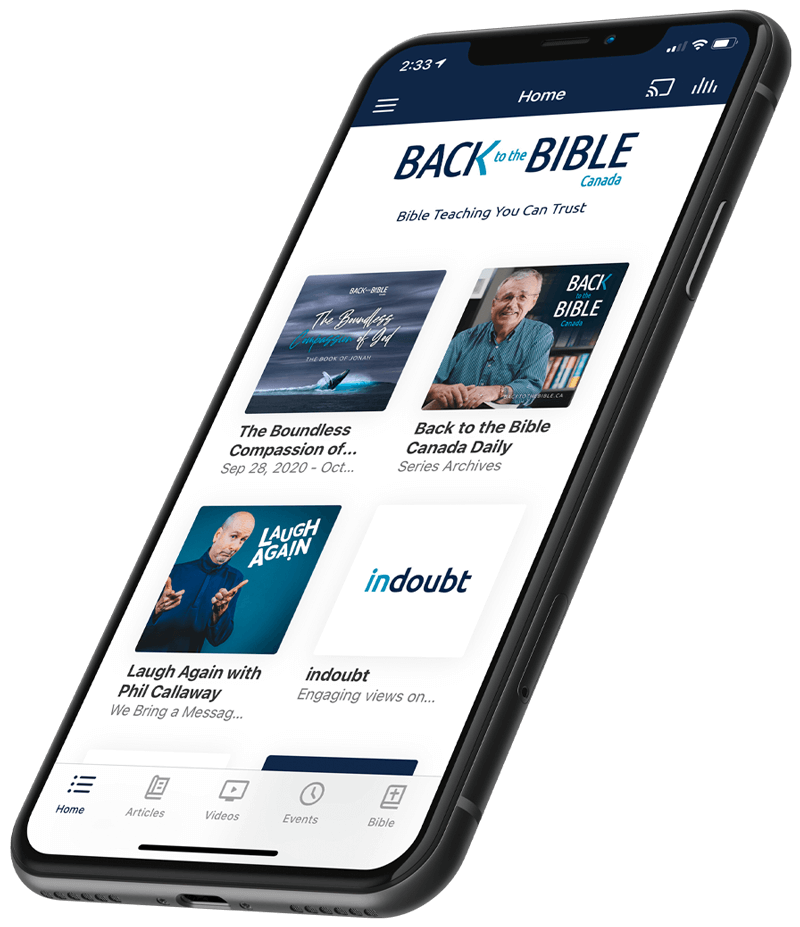 Back to the Bible Canada App